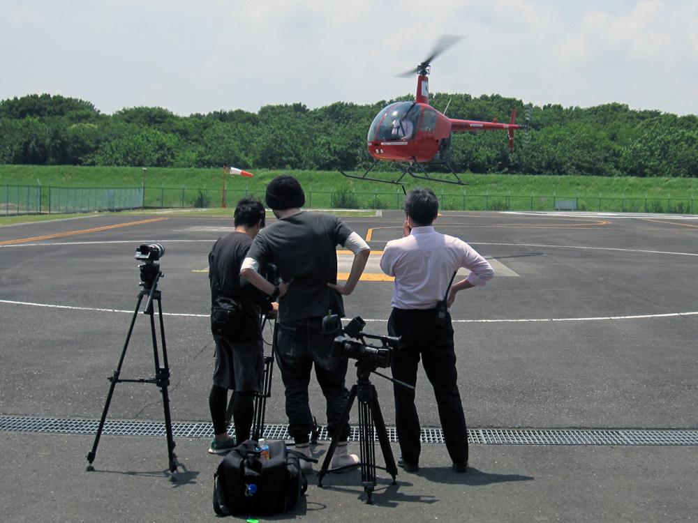 テレビ局の撮影3