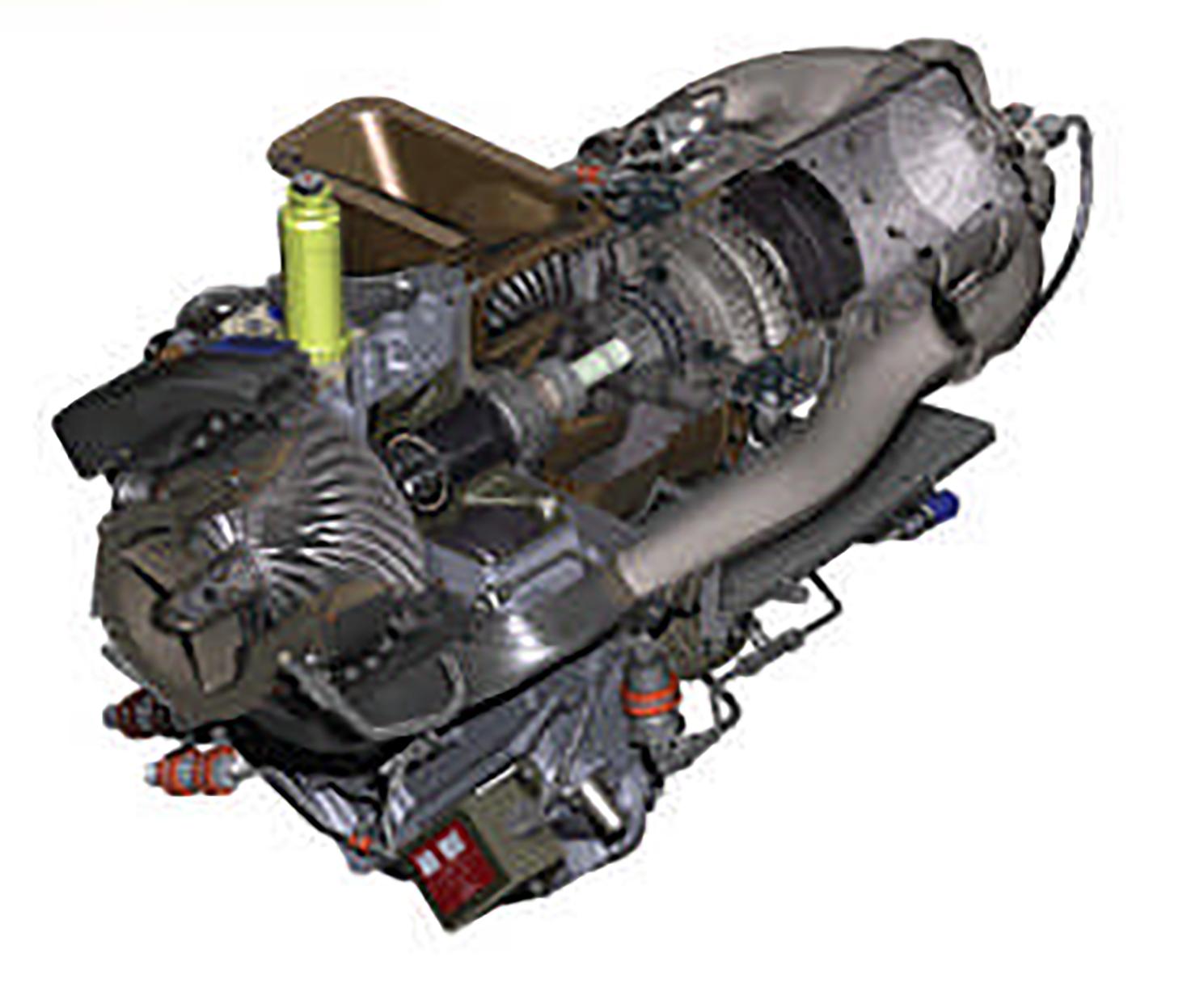 ロビンソン式R66型のエンジン