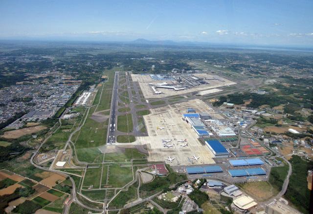 成田空港上空からの素敵な景色です | アルファーアビエィション