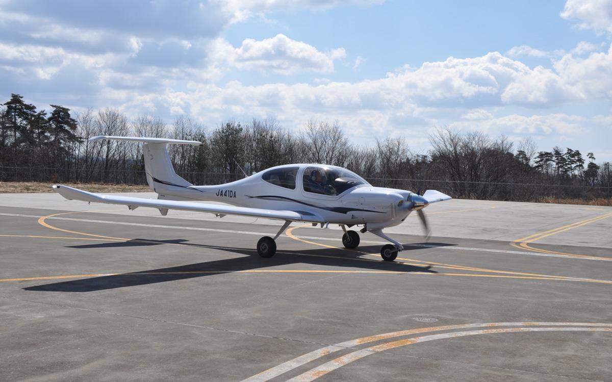 福島運航所の飛行機訓練