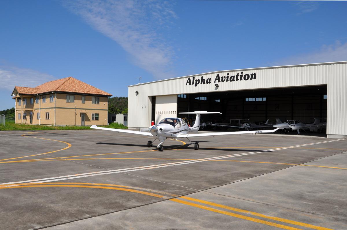 DA40の飛行訓練1